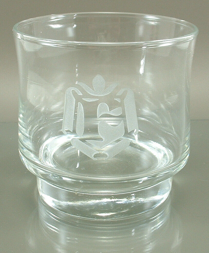 Etchded Glass Crown And S