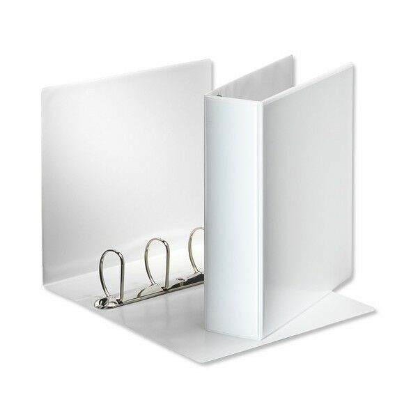 10 White A4 Presentation Binders 4D Ring 25mm Capacity