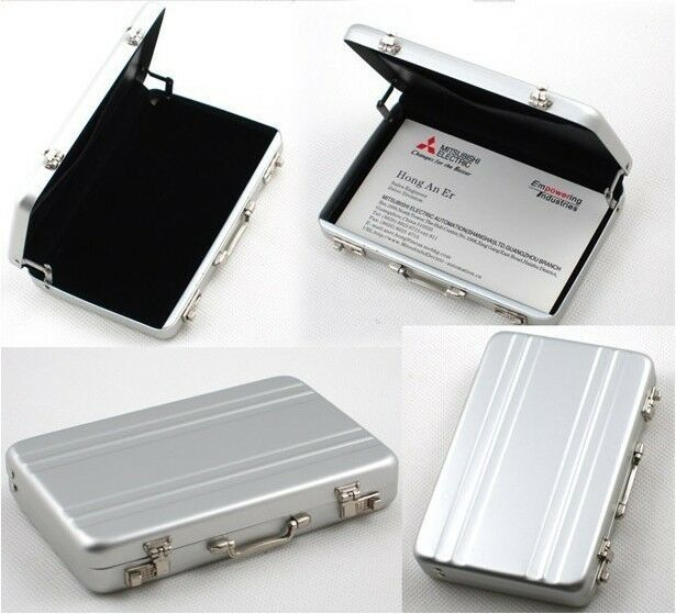 Cool metal password briefcase business cardcase bank card for Cool business card case