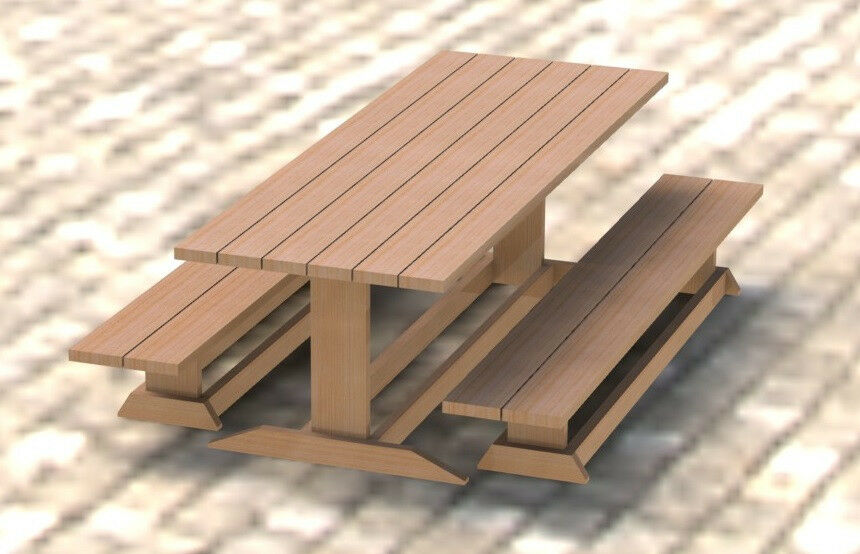 ... Style Picnic Table DIY Building Plans 003 - Easy to Build | eBay