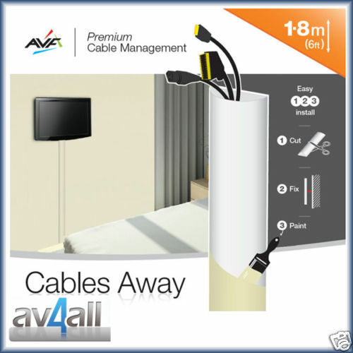 cable management covers for hiding tv wires avf ua180w ebay. Black Bedroom Furniture Sets. Home Design Ideas