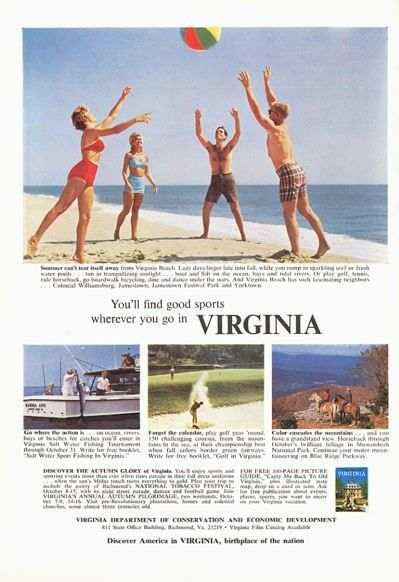 1966 virginia travel on the beach golf fishing mountain for Fish store virginia beach