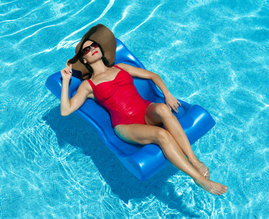 Non Inflatable Swimming Pool Deluxe Foam Float Lounge