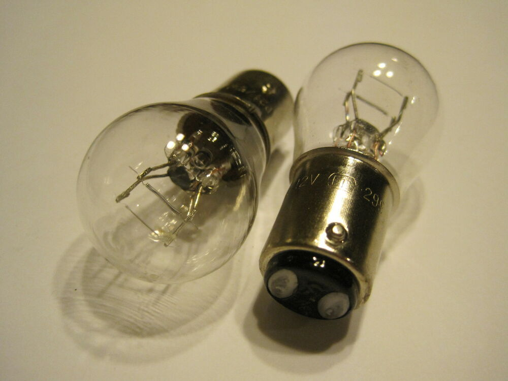 a pair oem p21 5w 12v e13 299 clear bulb on auto atv. Black Bedroom Furniture Sets. Home Design Ideas