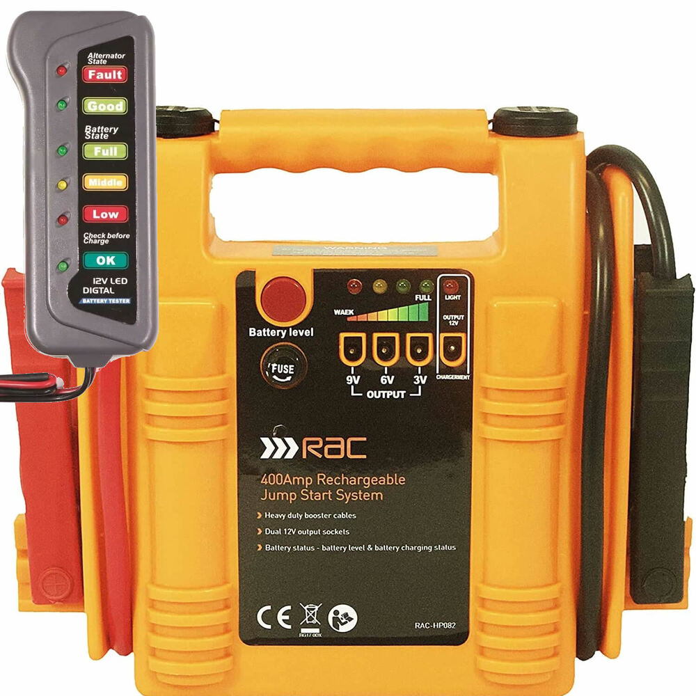 jump start battery rac 12v 400a car battery booster jump start starter power 11108