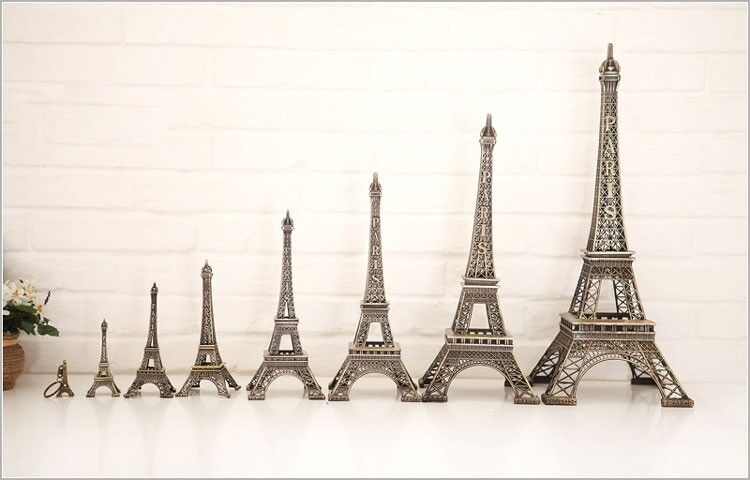 Multiple size bronze tall paris eiffel tower statue home for Eiffel tower decorations for the home