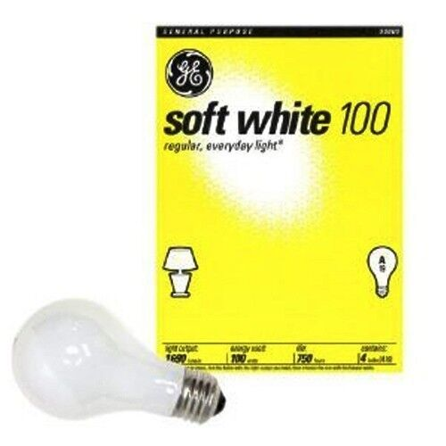 48 Pack 100 Watt Ge Soft White Incandescent Light Bulbs Household 41036 Ebay
