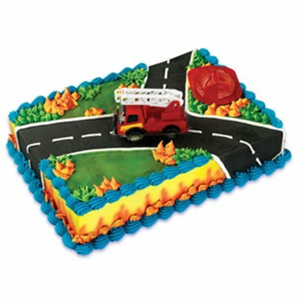 Fire truck rescue cake decoration set fireman ebay for Decoration kit