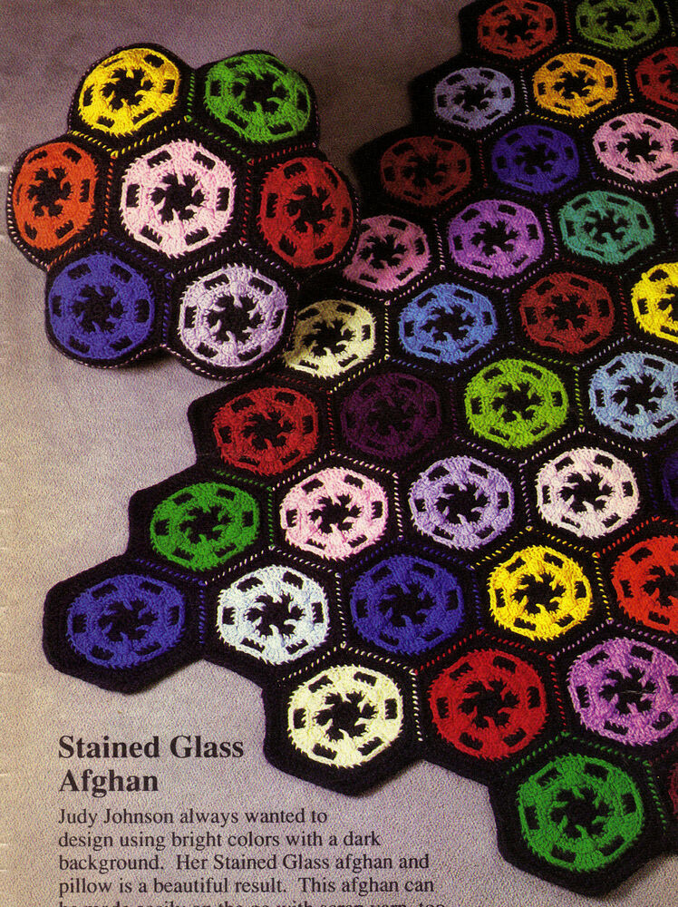 Beautiful Scrap Stained Glass Afghan Crochet Pattern