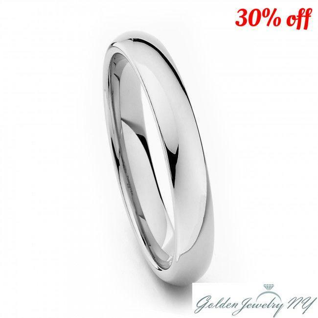 Comfort Fit 925 Sterling Silver Plain Wedding Band Ring