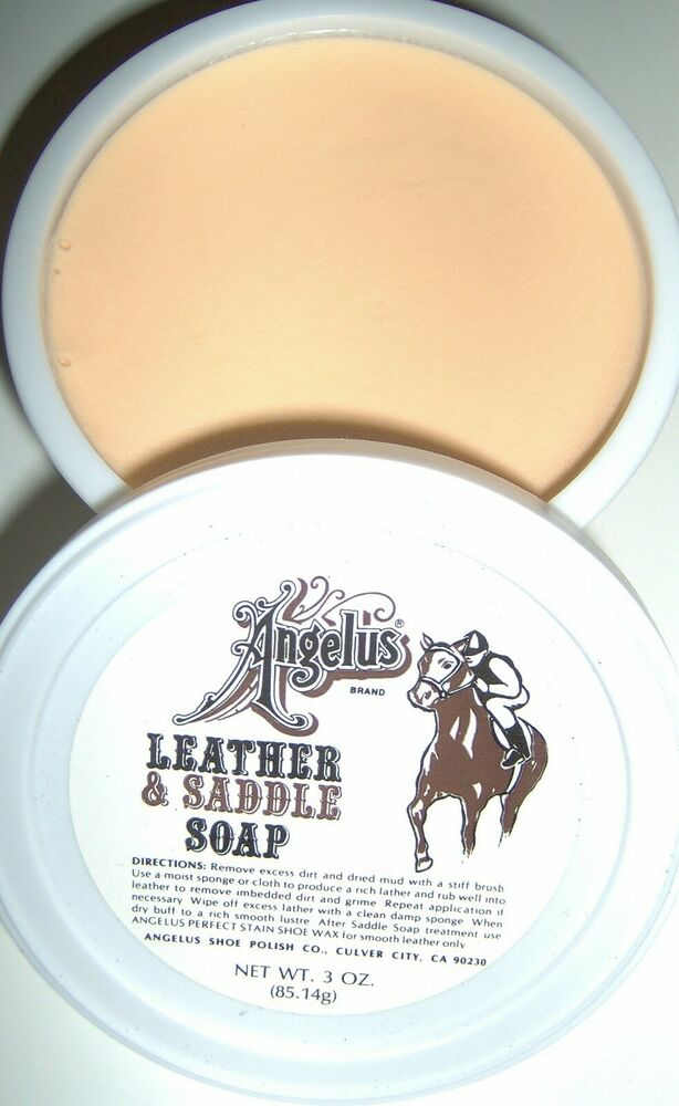 Angelus Leather Saddle Soap Paste Cleaner Clean Condition