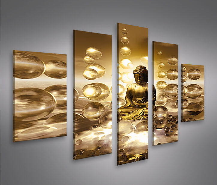buddha v2 mf bild auf leinwand bilder kunstdruck wandbild poster ebay. Black Bedroom Furniture Sets. Home Design Ideas