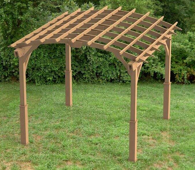 Garden Pergola Woodworking Plans Arched Roof 001 Ebay