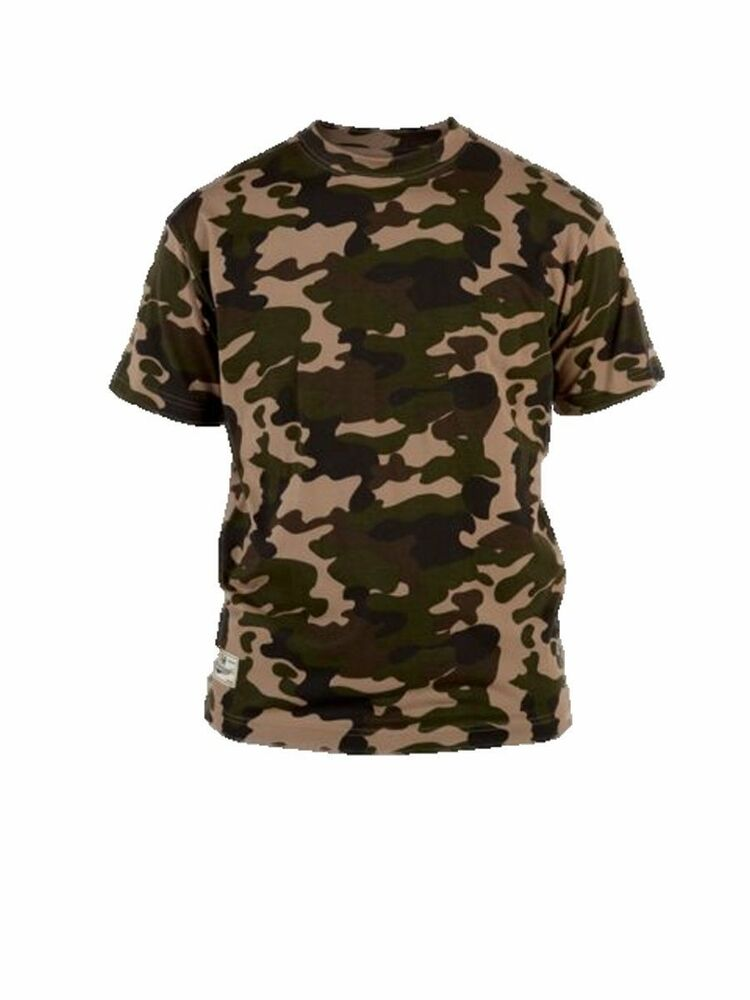 Mens king size camo t shirt camouflage tee big clothing for Camo fishing shirt