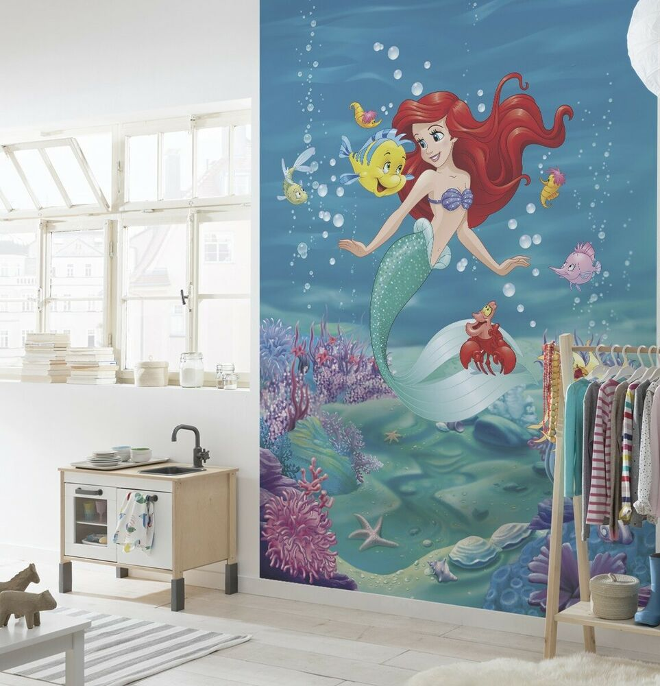 Wall mural photo wallpaper ariel the little mermaid kids for Disney mural wallpaper