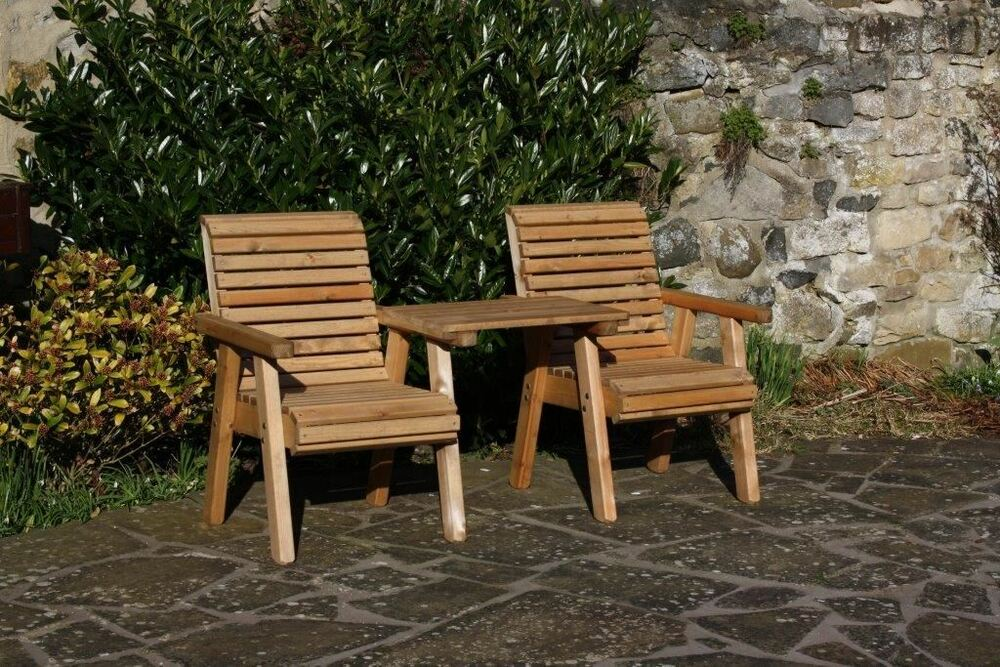 Garden Furniture Patio Set High Back Roll Top Love Seat