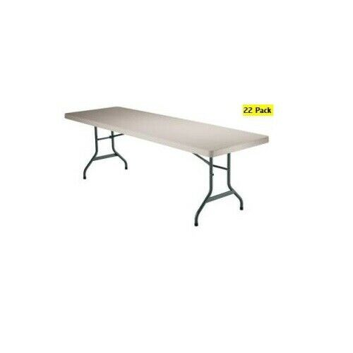 New lifetime 2900 22 6 39 foot commercial plastic almond for Table 6 feet