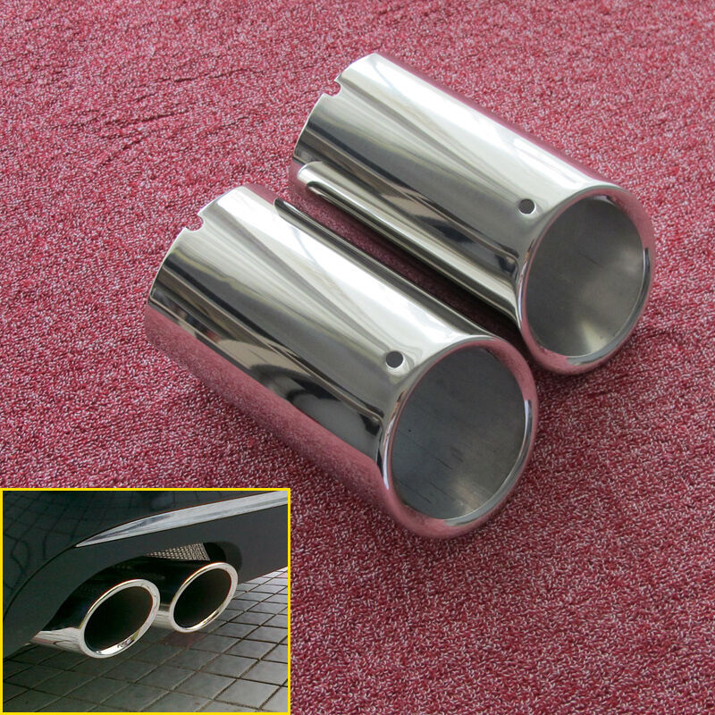Chrome Muffler Exhaust Tail Pipe Tip FOR Audi A4 B8 1.8T 2