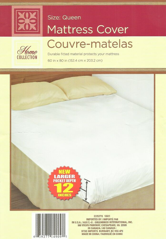 plastic mattress cover queen size fitted protector waterproof protective vinyl ebay. Black Bedroom Furniture Sets. Home Design Ideas