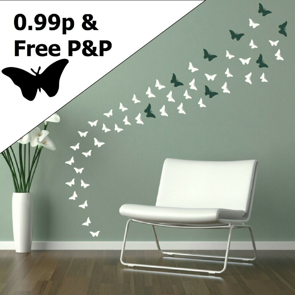 Butterfly wall stickers decal car graphic stencil for Stickers para pared
