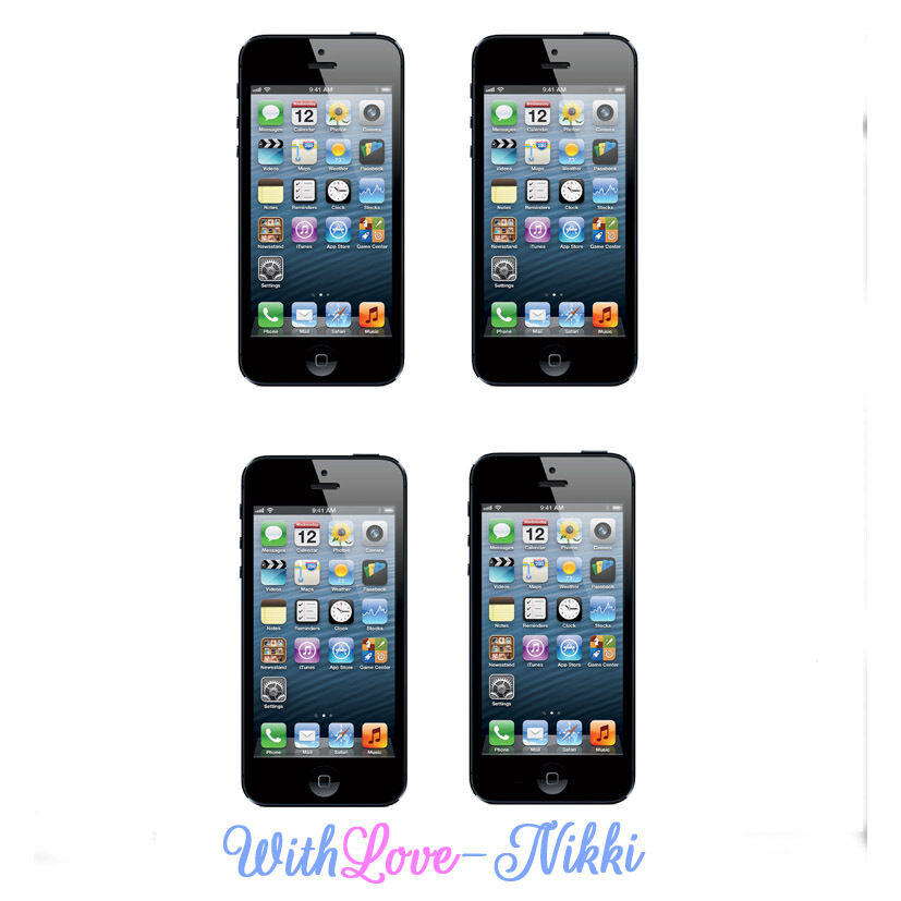 Edible Cake Images Iphone : Edible Apple iphone 5 4 3 Topper A4 Actual Size Icing ...