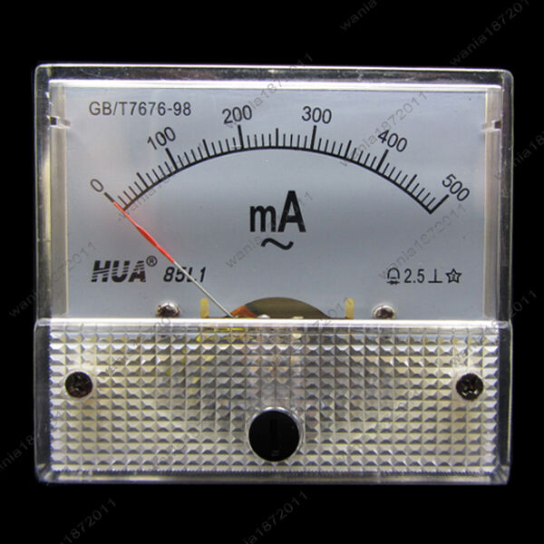 Ac Amp Meter Panel : Ac ma analog ammeter panel pointer amp current meter