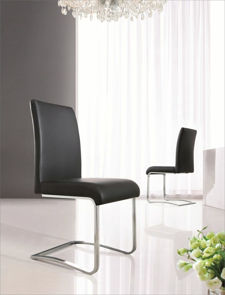leather chrome dining room chairs furniture 5 colours ij654 ebay