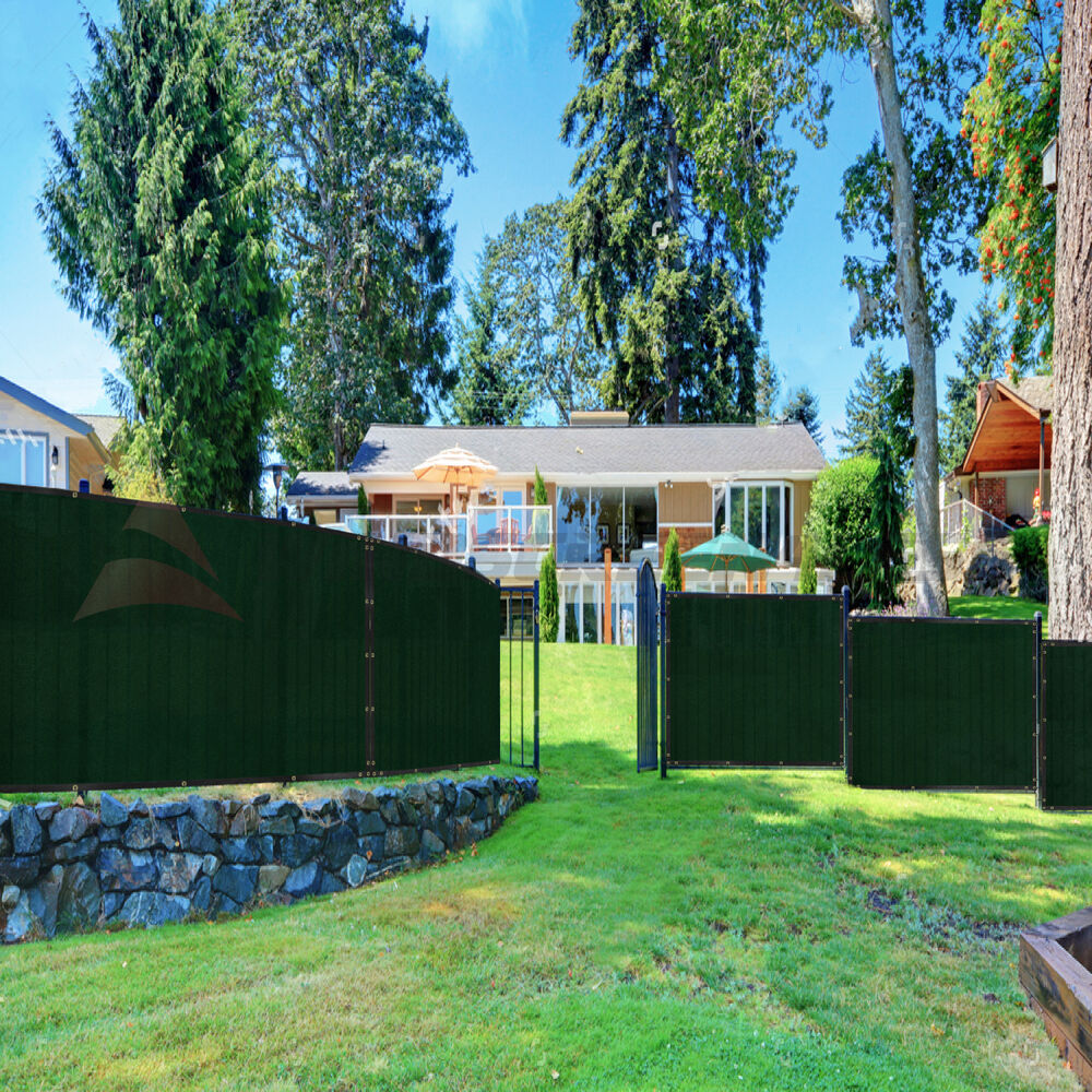 8 39 x50 39 privacy fence screen green black cover mesh for Temporary privacy screen