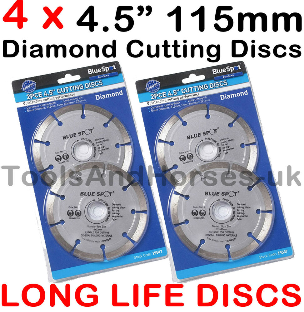4 X 115mm 4 5 Quot Diamond Cutting Disc 4 1 2 Quot Angle Grinder