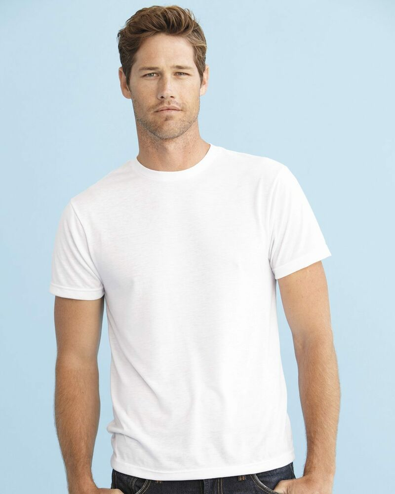 Sublivie mens polyester sublimation blank white t shirt for Polyester t shirts for men
