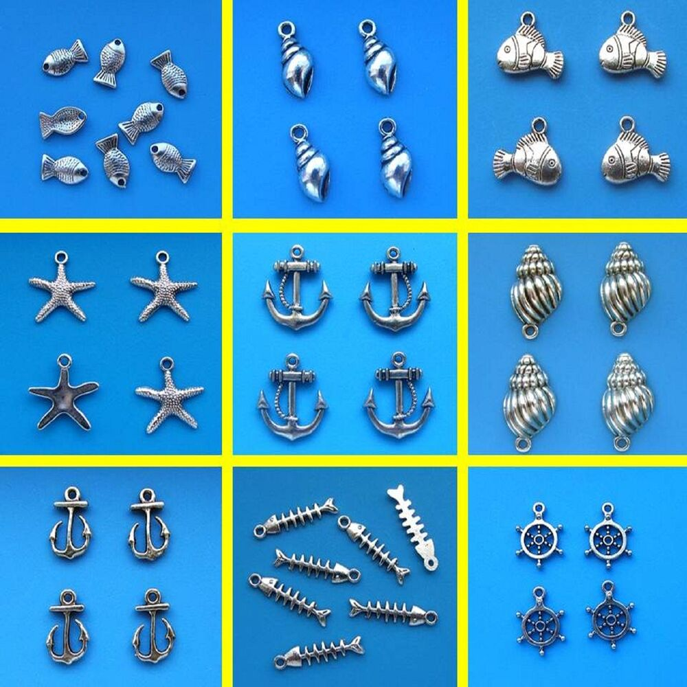 Tibetan silver sea life theme mix charms beach anchor fish boat ebay