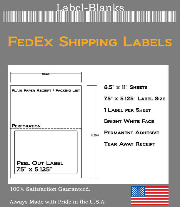 It is an image of Priceless Fedex Make Shipping Label