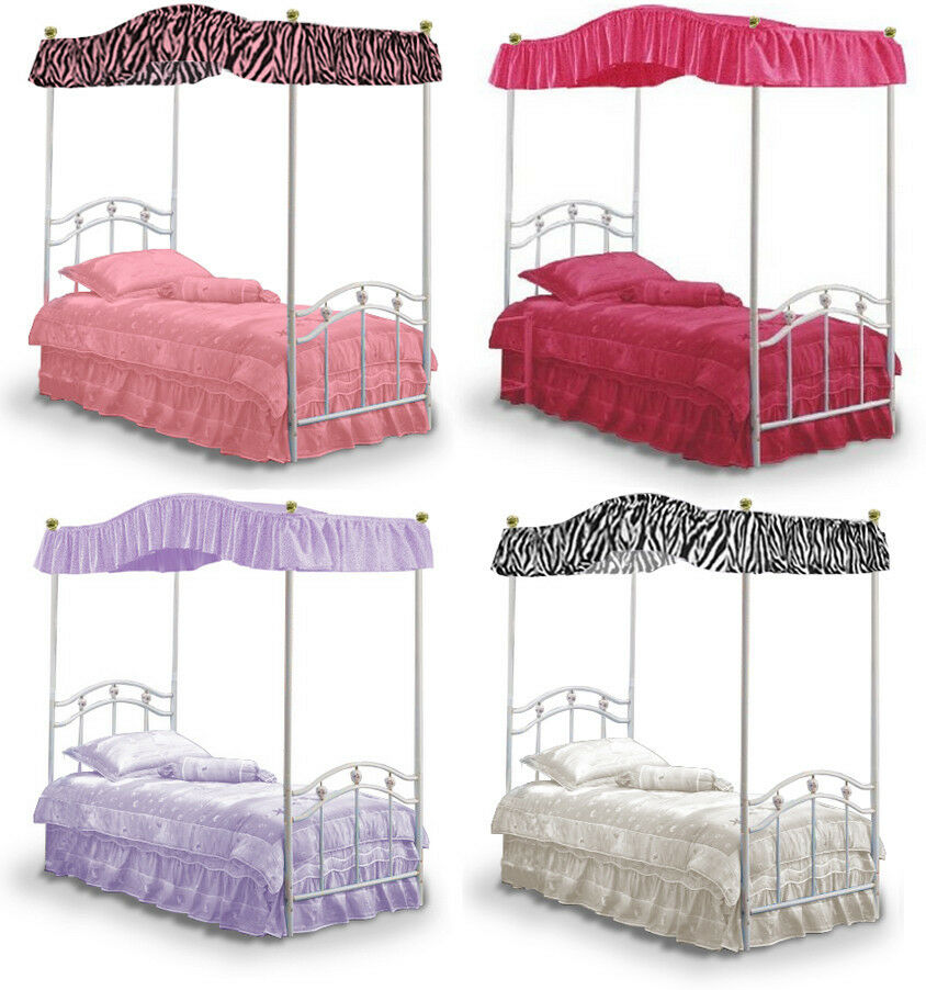 Fc501 new twin size princess bed canopy fabric top cover for How to drape a canopy bed