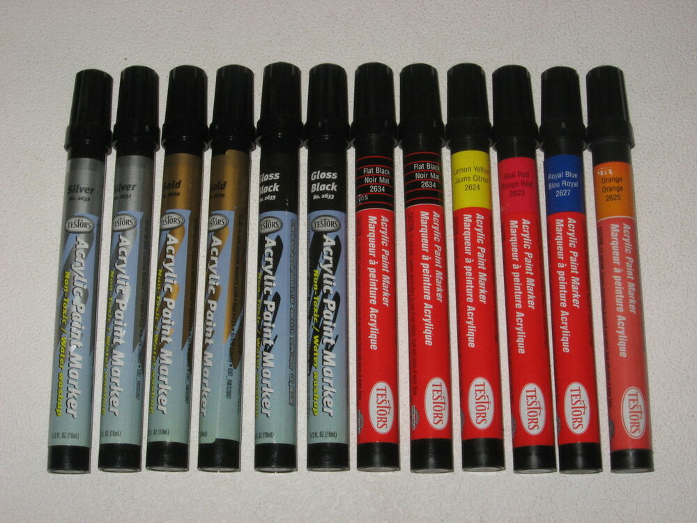 12 new testors acrylic paint marker pens models crafts for Paint pens for wood crafts