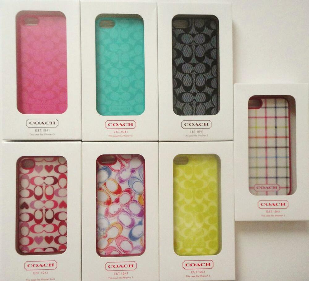 Coach Signature Protective Molded Hard Case for Apple Iphone 5 NIB ...