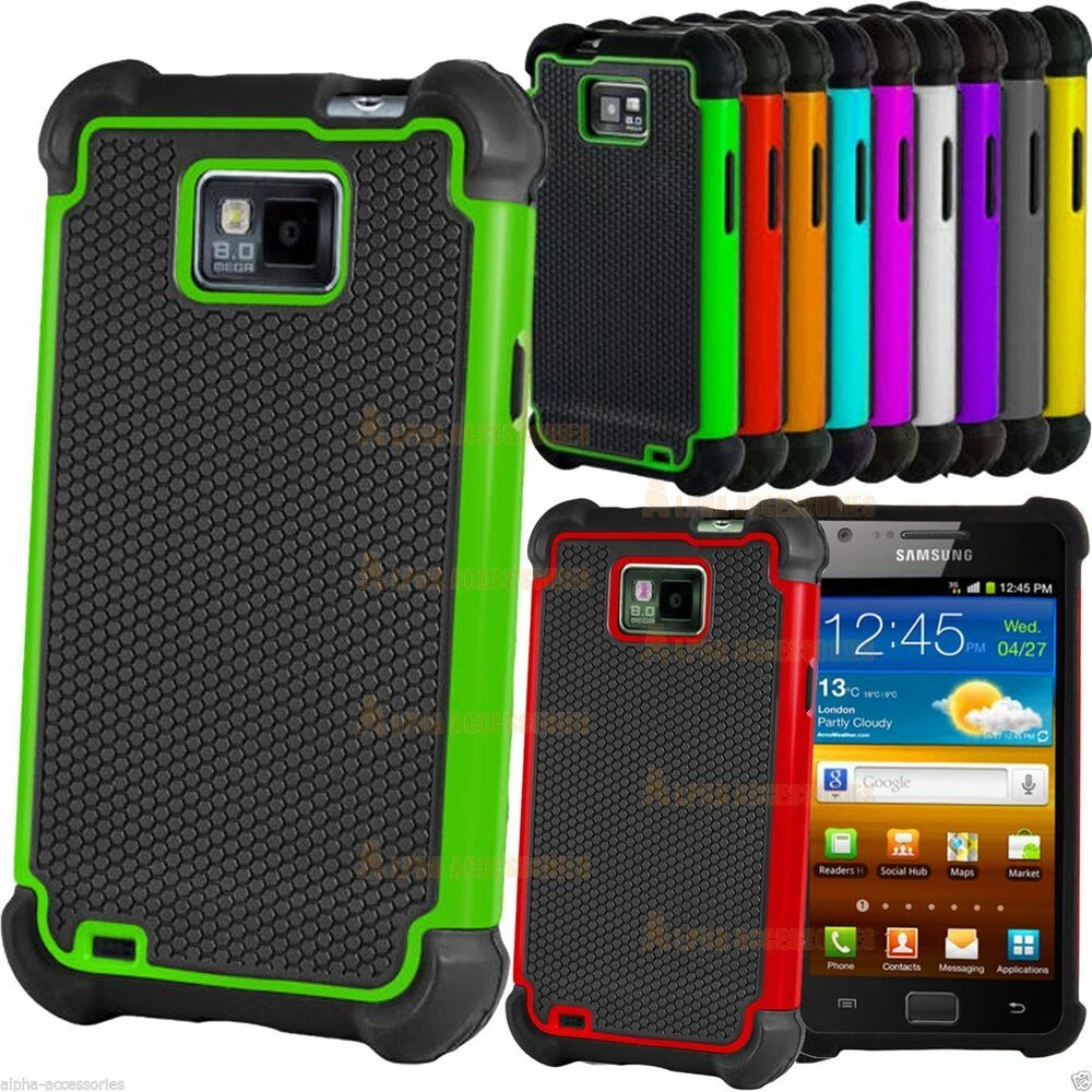 Shock Proof Dual Layer Silicone & Hard Case Cover For ...