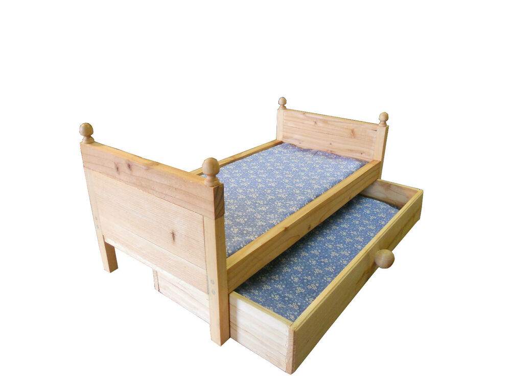 bed american 4558 ebay doll trundle bed with mattress fits american doll or 117