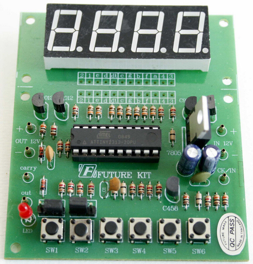 4 Digit Digital Counter Up  Down Carry Out Signal Assembled