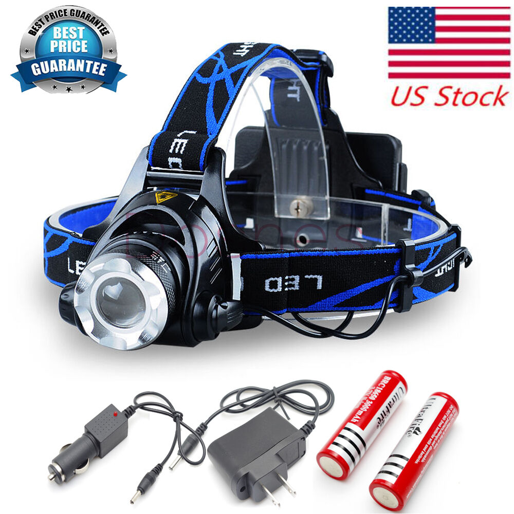Cree Led Headlamp T6 Rechargeable Headlight Ultra Bright