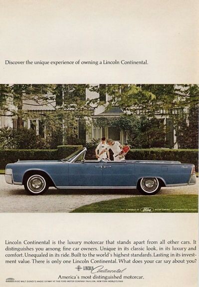1965 lincoln continental 4 door convertible print ad ebay. Black Bedroom Furniture Sets. Home Design Ideas