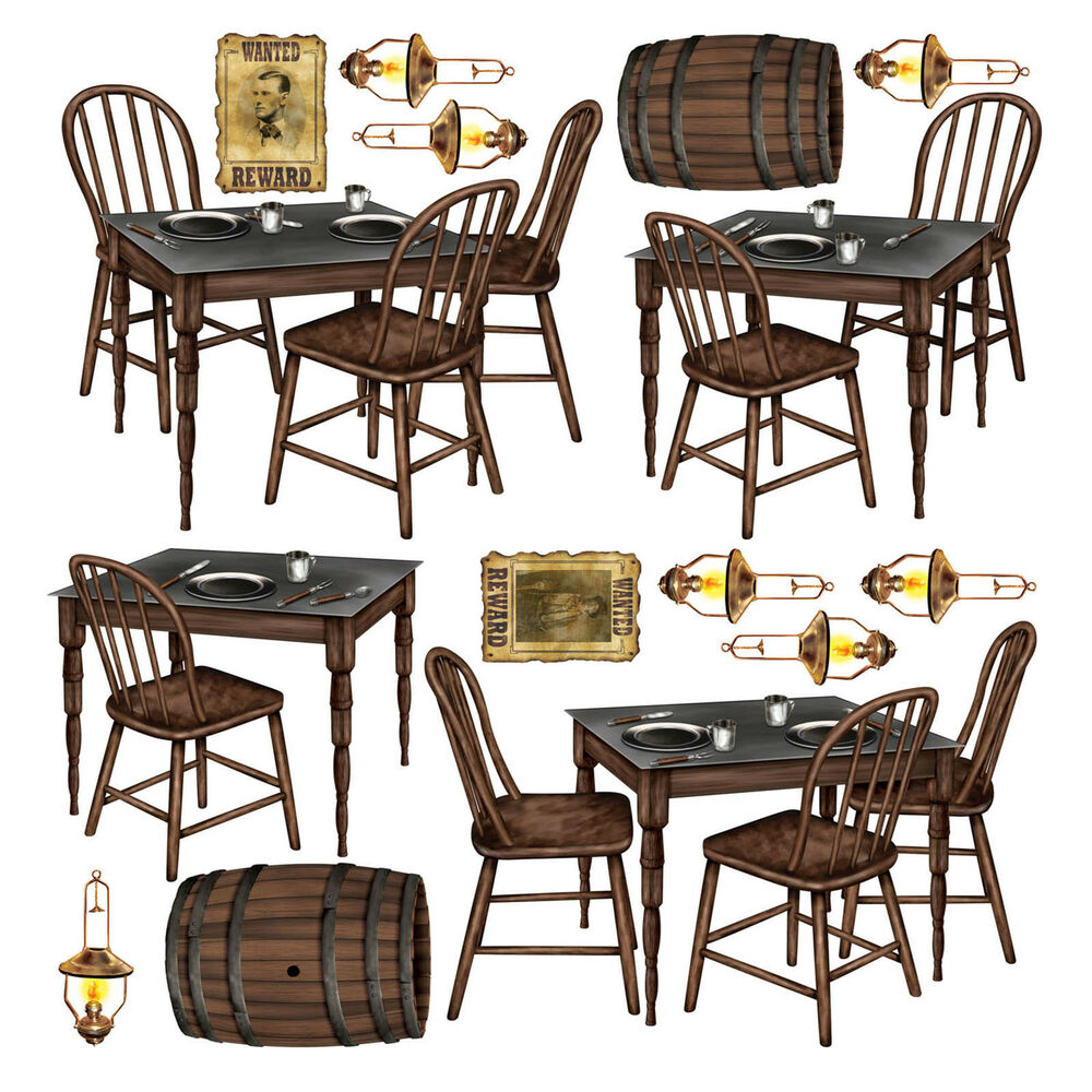 wild west saloon bar scene setter prop tables chairs ebay. Black Bedroom Furniture Sets. Home Design Ideas
