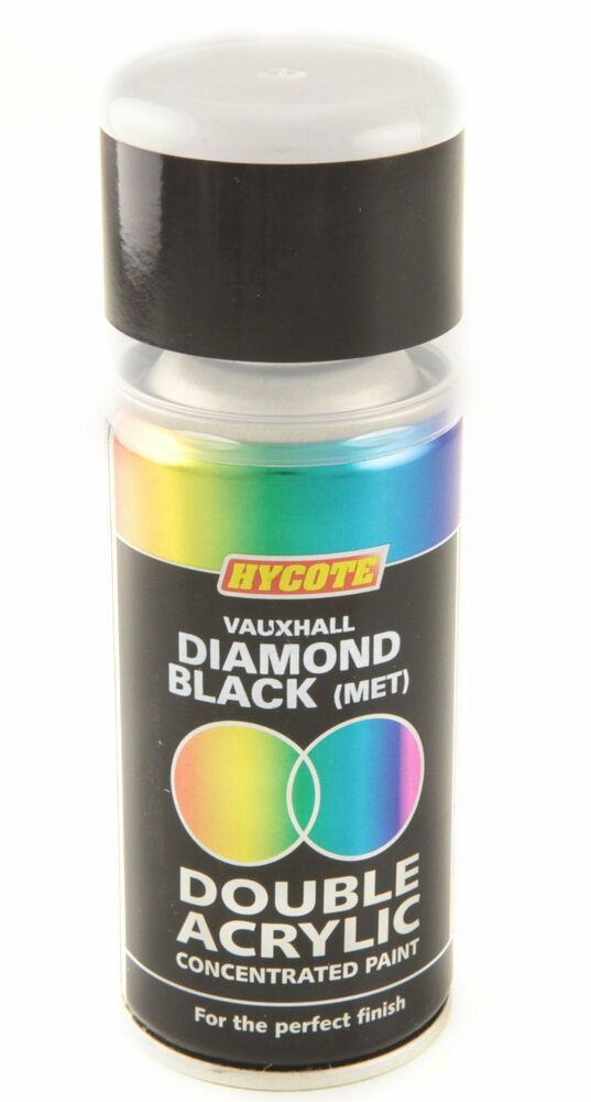 Hycote Vauxhall Diamond Black Metallic Double Acrylic Spray Paint 150ml Aerosols Ebay