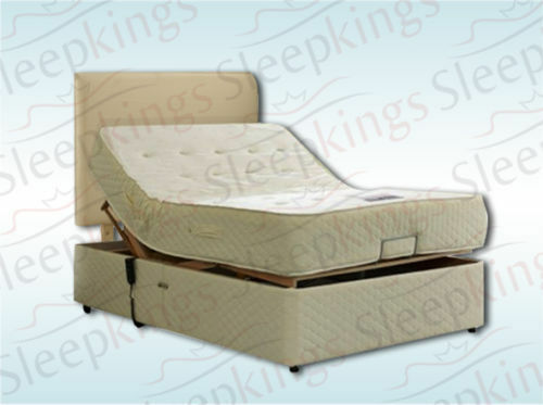 Electric Adjustable Bed 4ft6 Double With Memory Foam Or