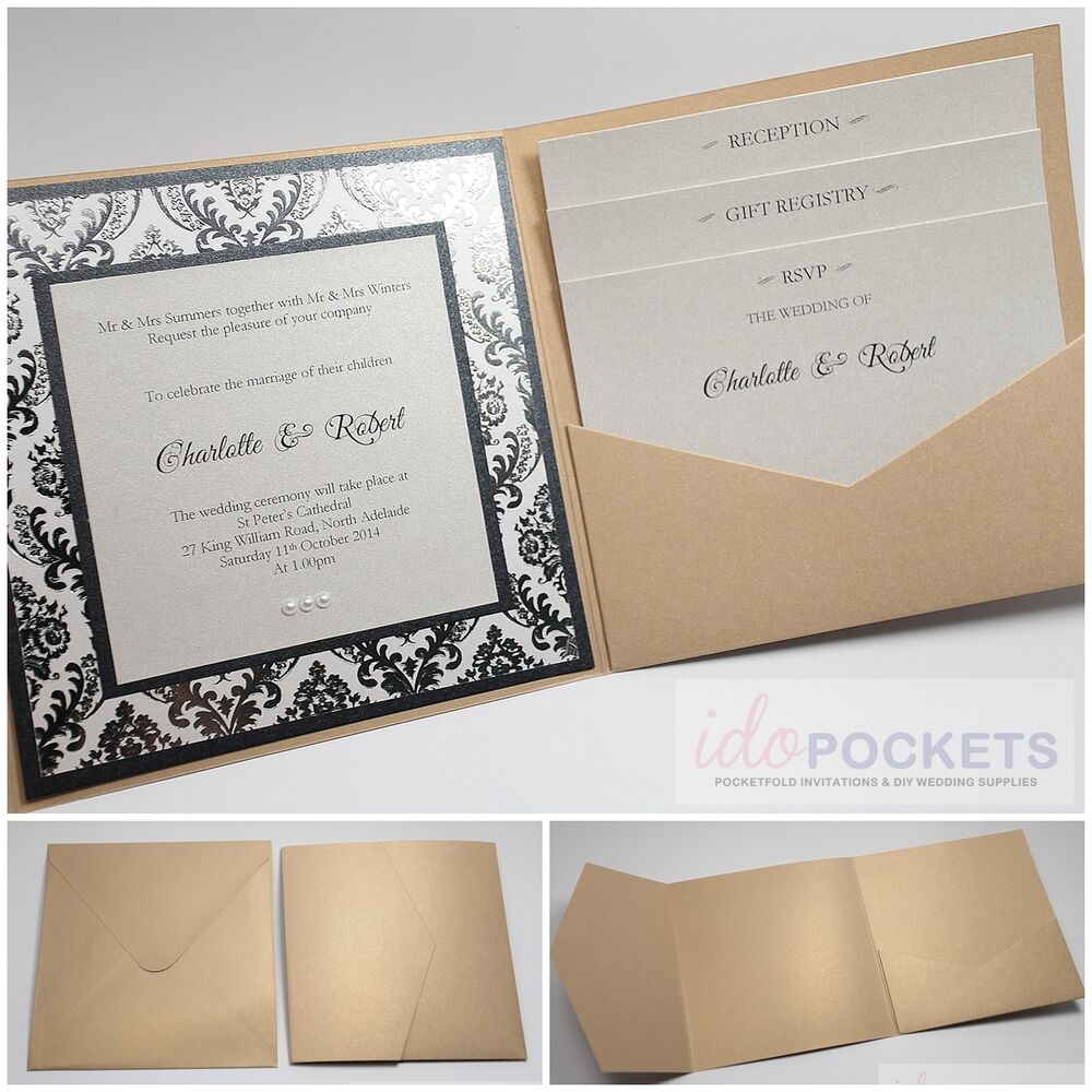 6x9 Wedding Invitation Envelopes: CHAMPAGNE GOLD SQUARE WEDDING INVITATION ENVELOPES DIY