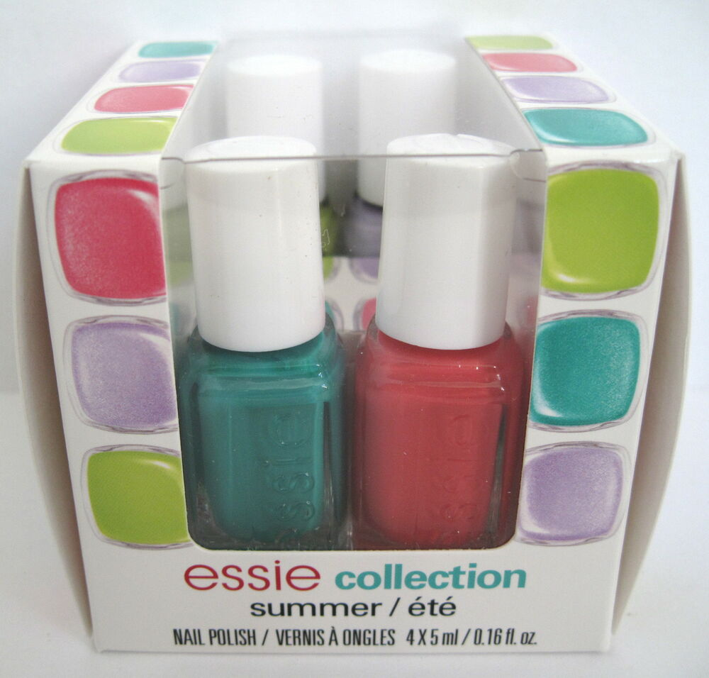essie SUMMER COLLECTION 4-pc Nail Polish Cube Set ~ NAUGHTY SUNDAY ...
