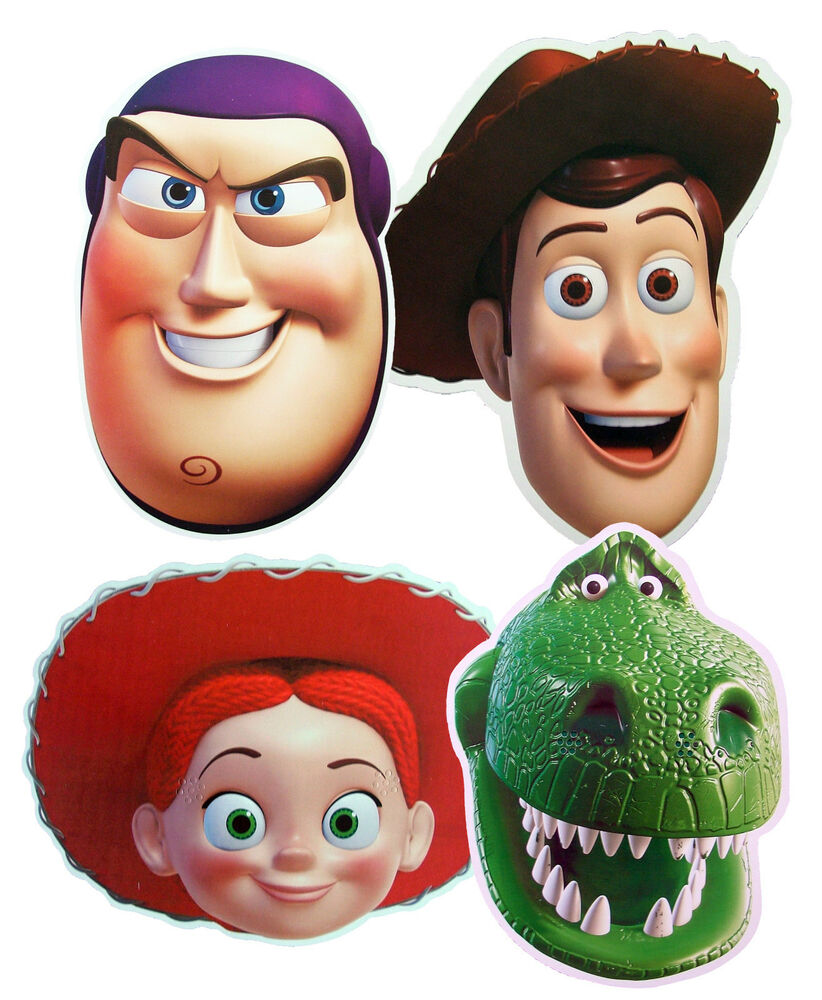 TOY STORY CHARACTER - FUN PARTY FACE MASKS - 4 TO CHOOSE ...