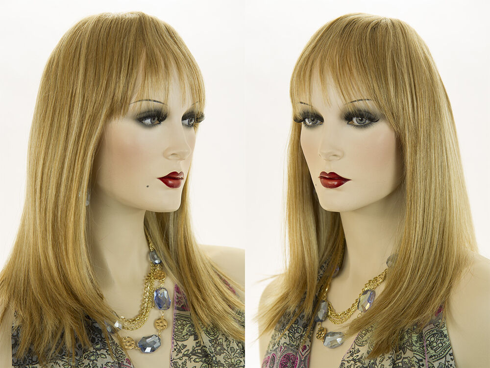 Long Premium Remy Human Hair Skin Top Straight Blonde