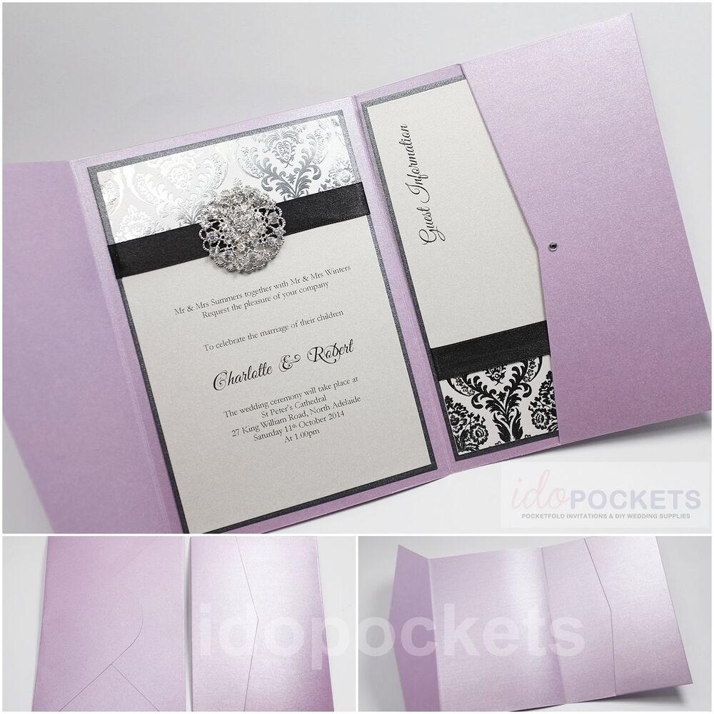 6x9 Wedding Invitation Envelopes: PURPLE LAVENDER LILAC WEDDING INVITATION ENVELOPES POCKET