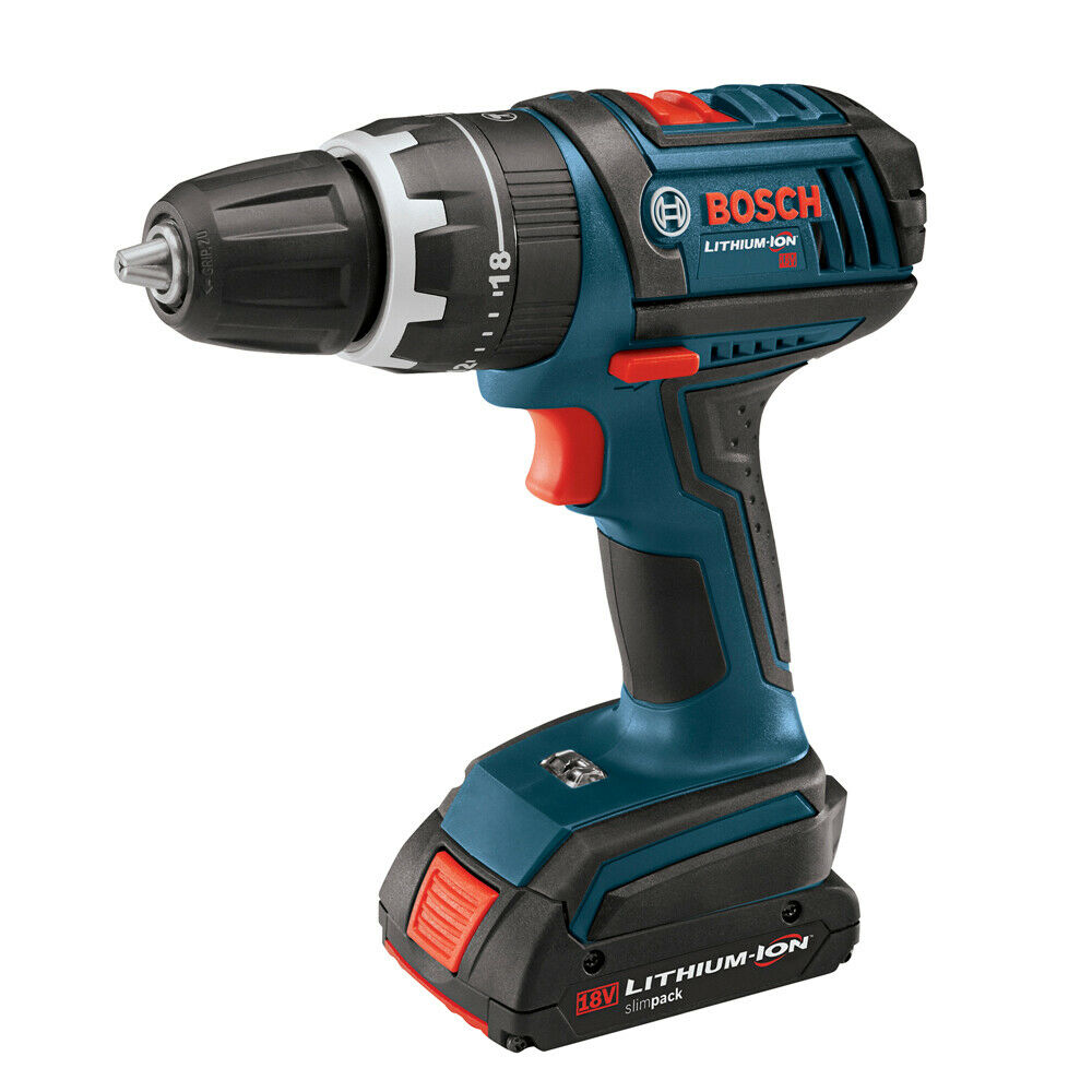 bosch hds180 03 18 volt li ion cordless 1 2 inch hammer drill driver kit 346429329 ebay. Black Bedroom Furniture Sets. Home Design Ideas