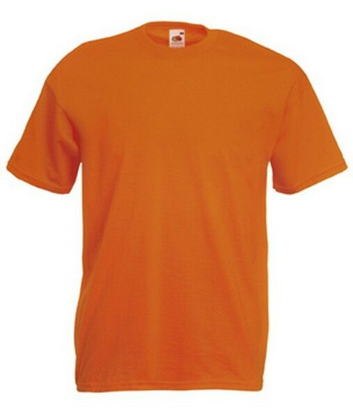 T-shirt uni homme manches courtes FRUIT OF THE LOOM  COULEUR ORANGE